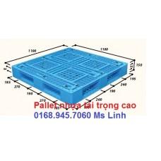 Pallet nhựa 1100x1100mmx150mm loại tốt