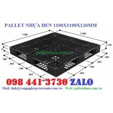 Pallet nhựa đen 1100x1100x120mm
