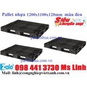 Pallet nhựa 1200x1100x120mm màu đen