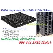 Pallet màu đen 1100x1100x125mm xuất khẩu