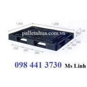 Pallet nhựa 1200x1000mmx120mm màu đen