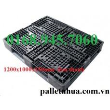 Pallet nhựa 1200x1000x150mm đan thanh