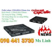 Pallet nhựa 1200x800x120mm đen