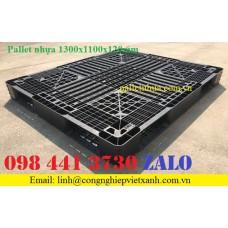 Pallet nhựa 1300x1100x120mm màu đen