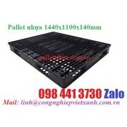 Pallet nhựa 1400x1100x140mm màu đen