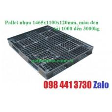 Pallet nhựa 1400x1100x130mm màu đen