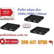 Pallet nhựa đen 1000x1000x120mm