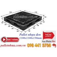 Pallet nhựa đen 1100x1100x150 mm
