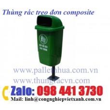 Thùng rác treo 1 bên composite