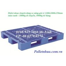 Pallet nhựa lõi sắt 1200x1000mmx150mm