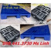 Pallet 1200x1000mmx150mm lỗi sắt xanh đen