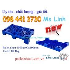 Pallet nhựa kê hàng 1000x600x100mm PL327