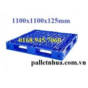 Pallet nhựa 1100x1100x125mm xanh