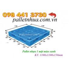 Pallet nhựa 1100x1100mmx150mm tải 4 tấn