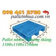 Pallet nhựa 1100x1100mmx150mm 3 đường thẳng