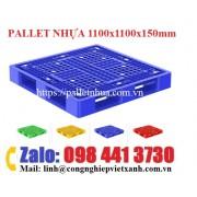 Pallet nhựa 1100x1100x150mm DT111115