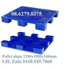Pallet nhựa 1200x1000mmx140mm không thanh dần