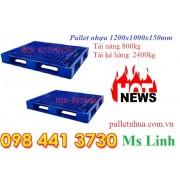Pallet nhựa 1200x1000x150mm xanh 480
