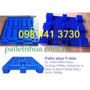 Pallet nhựa 1200x1000x150mm 9 chân không thanh dần