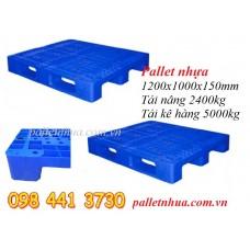 Pallet nhựa 1200x1000x150mm lỗi sắt