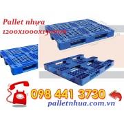 Pallet nhựa lõi sắt 1200x1000mmx150mm lỗi sắt