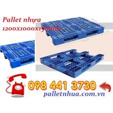 Pallet nhựa 1200x1000x150mm xanh 466