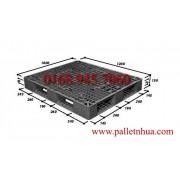 Pallet nhựa 1200x1000x150mm đen