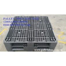 Pallet nhựa 1200x1200x160mm màu xám