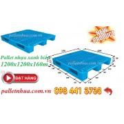 Pallet nhựa 1200x1200x160mm xanh biển