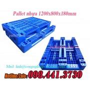 Pallet nhựa 1200x800x180mm PL01LK