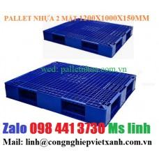 Pallet nhựa hai mặt 1200x1000mm 403