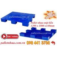 Pallet nhựa mặt liền 1200x1000x140mm