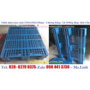 Pallet nhựa màu xanh 1200x1000x150mm 3 thanh (1 tấn- 4 tấn)