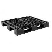 Pallet nhựa đen 1200x1000mm (tải động-tải tĩnh: 0.8-2.5 tấn)