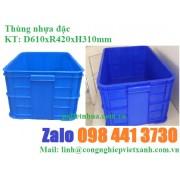 Thùng nhựa đặc công nghiệp thủy sản