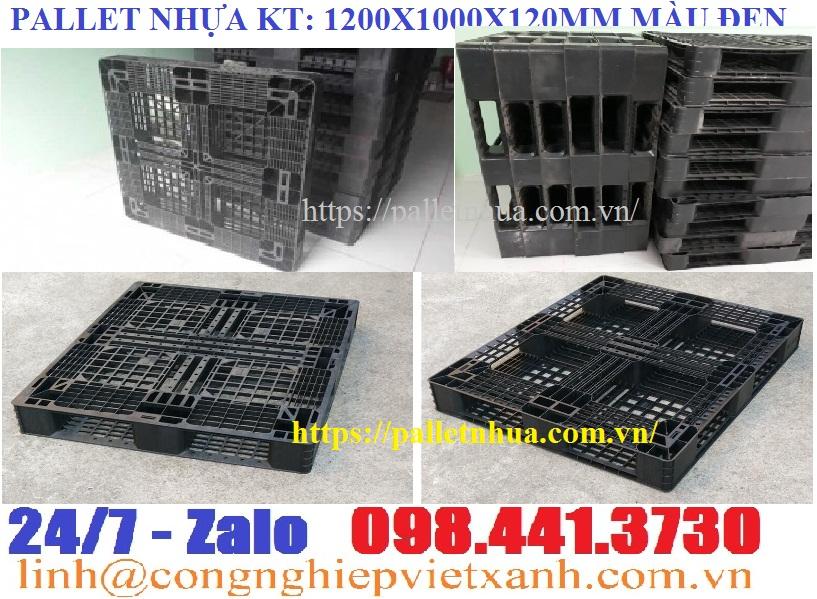 Pallet 1200x1000x120mm màu đen khuyến mãi hàng có sẵn LH: 098 441 3730 Ms Linh\
