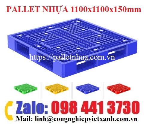 pallet-nhua-1100x1100x150mm-mau-xanh