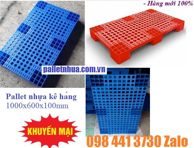 www.kenhraovat.com: Pallet nhựa kê hàng 1000x600x100mm